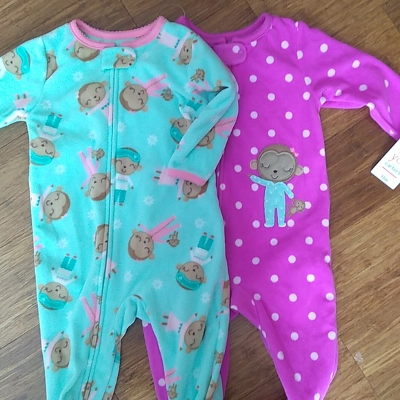 Baby & Toddler Clothing Girls' Clothing (newborn-5t) Baby Girl Lot Size Nb Just One You Bycarters Footed Sleeper Sweater Nwot